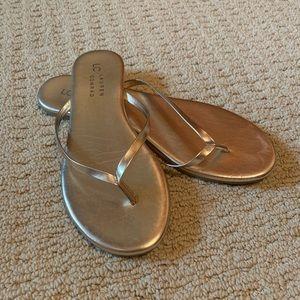 Gold Lauren Conrad flip flops